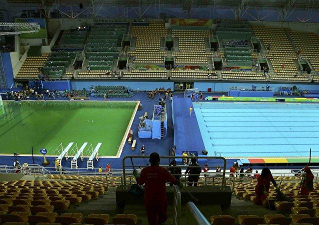 Las piscinas del centro acuático Maria Lenk