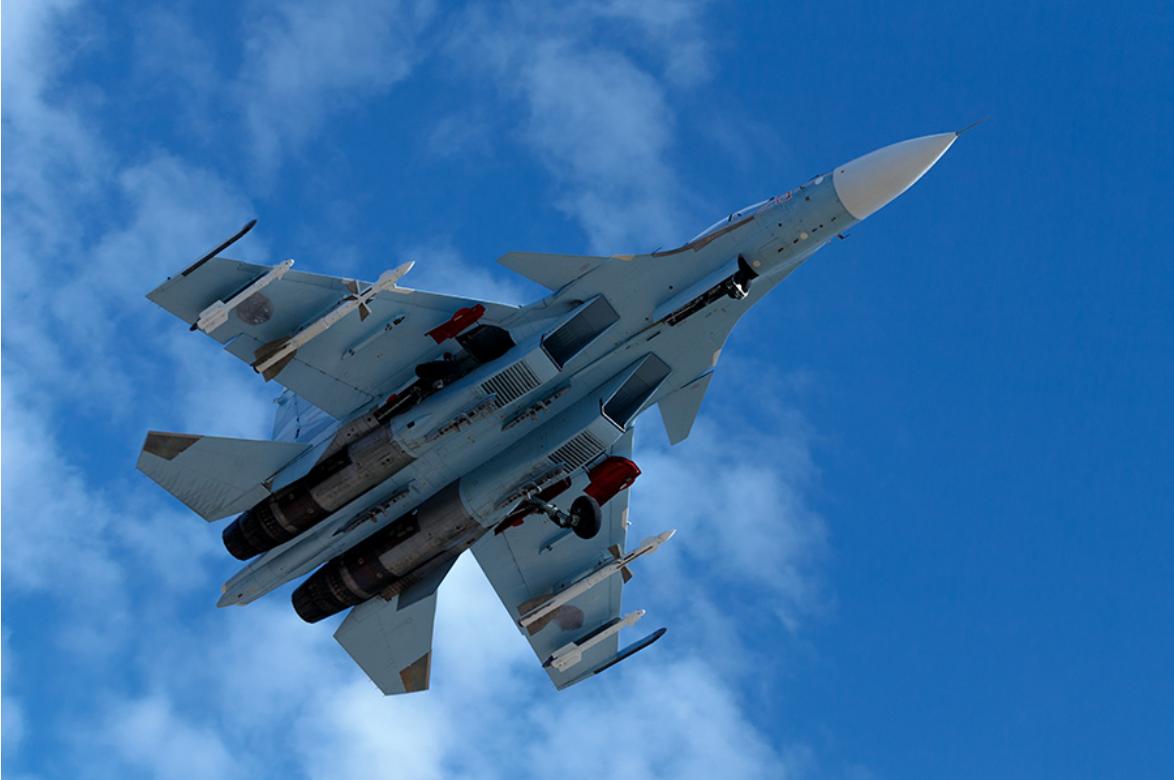 Caza ruso Su-35 en Siria