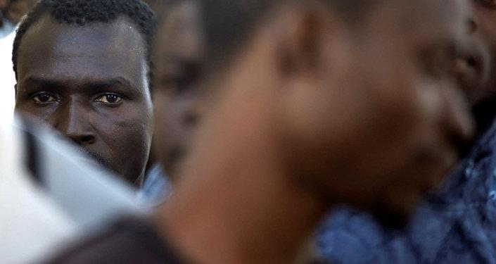 Los migrantes de Libia