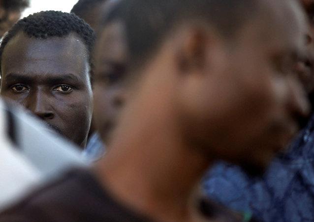 Los migrantes de Libia (archivo)