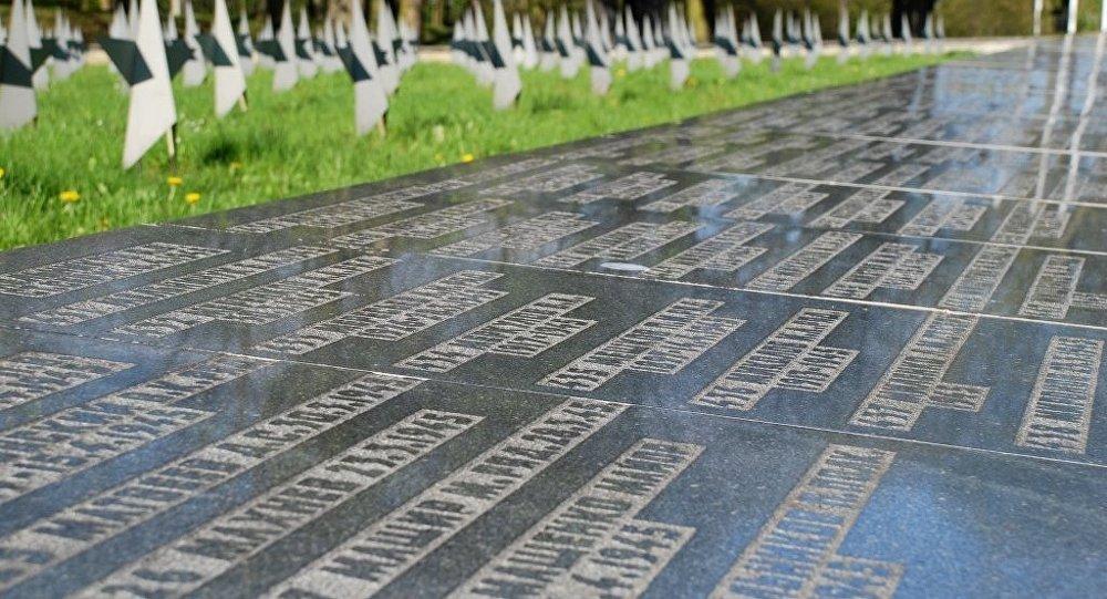 Cementerio de combatientes soviéticos en Gdansk, Polonia