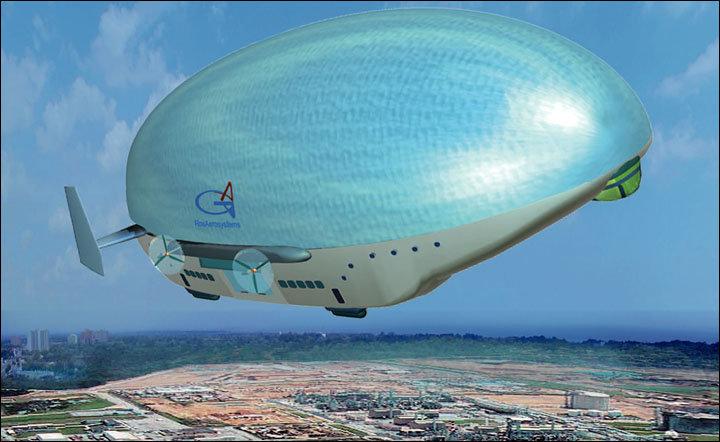 Un dirigible desarrollado por la empresa rusa Rosaerosystem