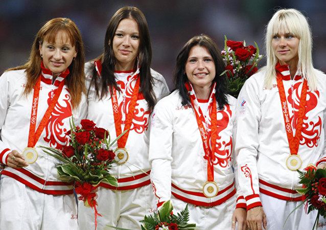 Selección rusa en los Juegos Olímpicos 2008 en Pekín en los relevos de 4 x 100 metros femenino