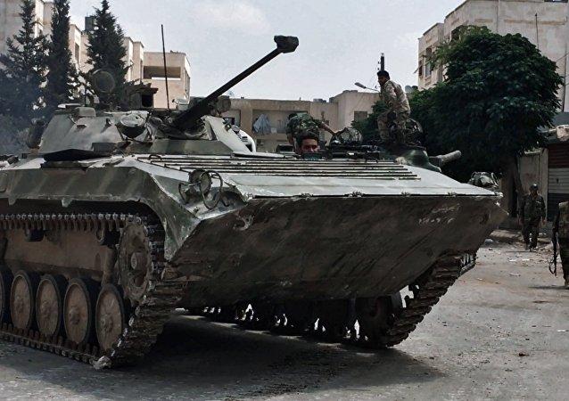 El Ejército sirio