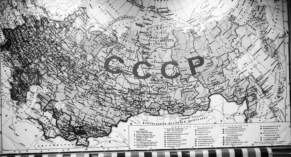El mapa de la URSS