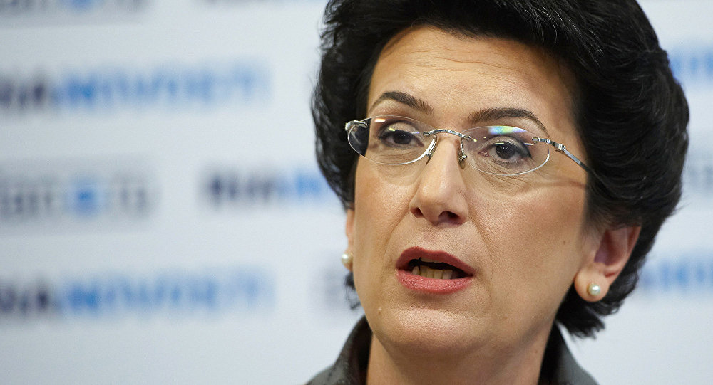 Ninó Burdzhanadze, expresidenta del Parlamento georgiano