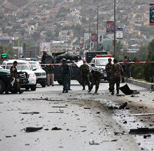 Lugar del ataque talibán en el este de Afganistán