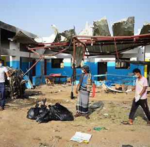 El hospital de la organización humanitaria Médicos Sin Fronteras en Yemen