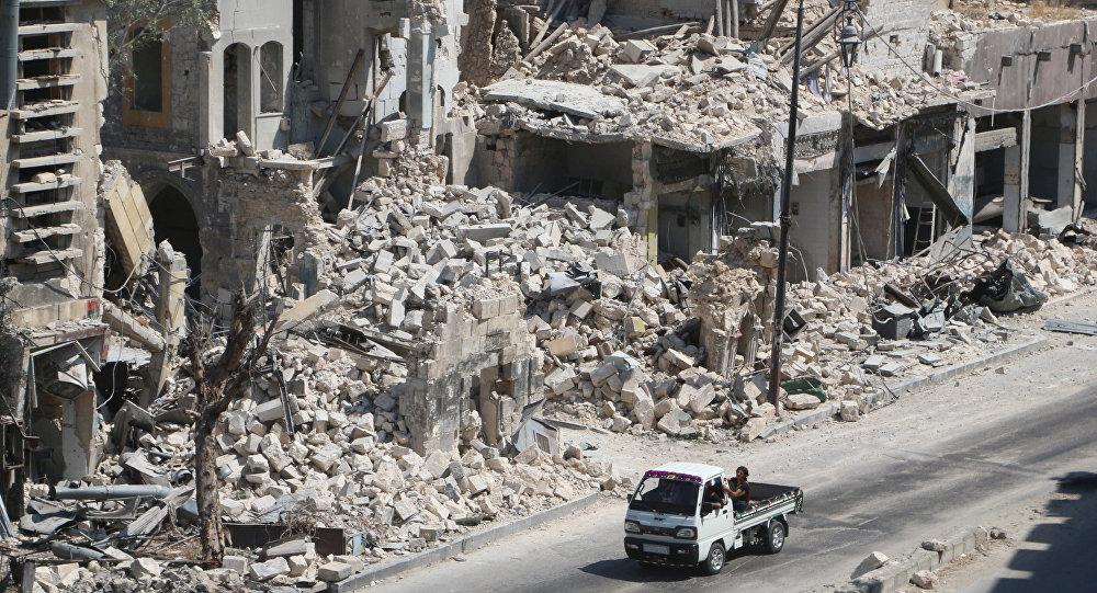 El barrio destruido en Alepo