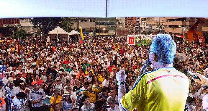 Alcalde de Ibaqué compareciendo ante el pueblo