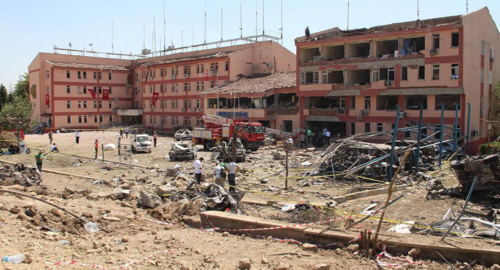 El lugar de la explosión en la ciudad turca de Elazig