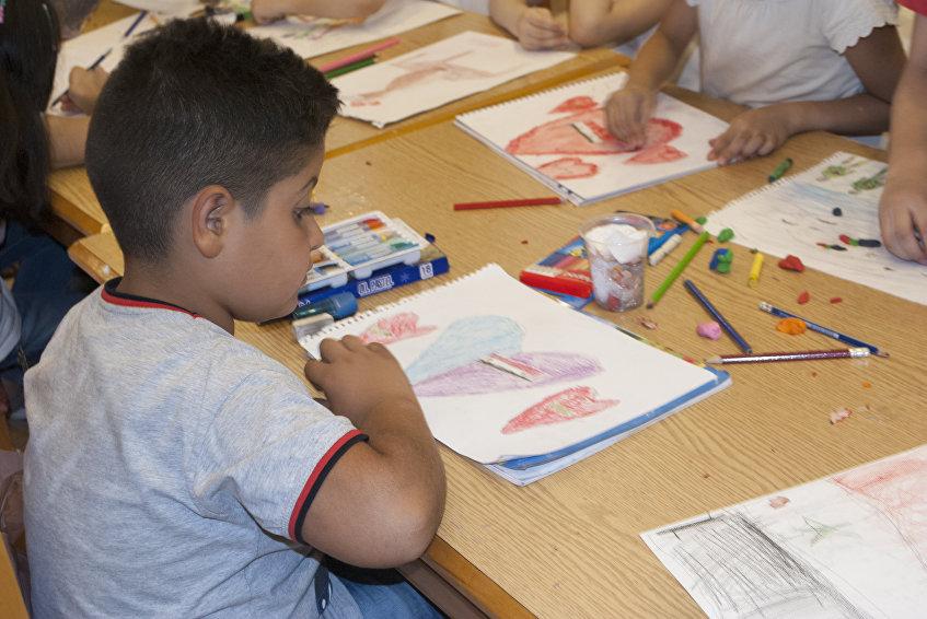 Los niños sirios dibujan la paz