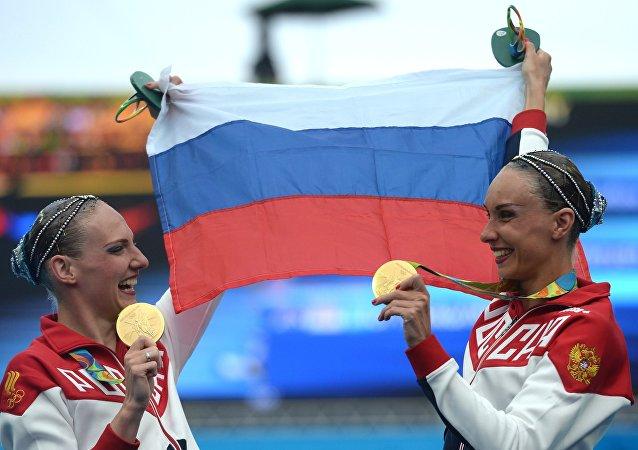 Svetlana Romashina y Natalia Ishchenko