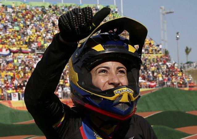 La bicicrosista colombiana Mariana Pajón