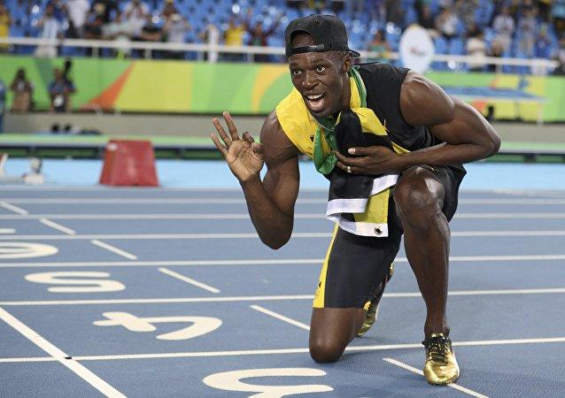 Usain Bolt, velocista de Jamaica, ganador olímpico