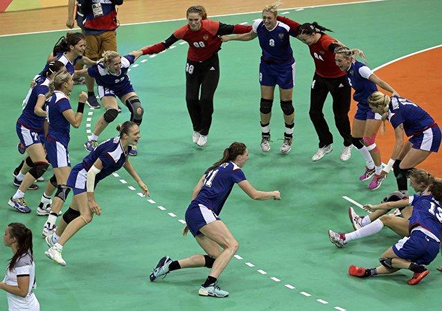 La selección rusa de balonmano femenino
