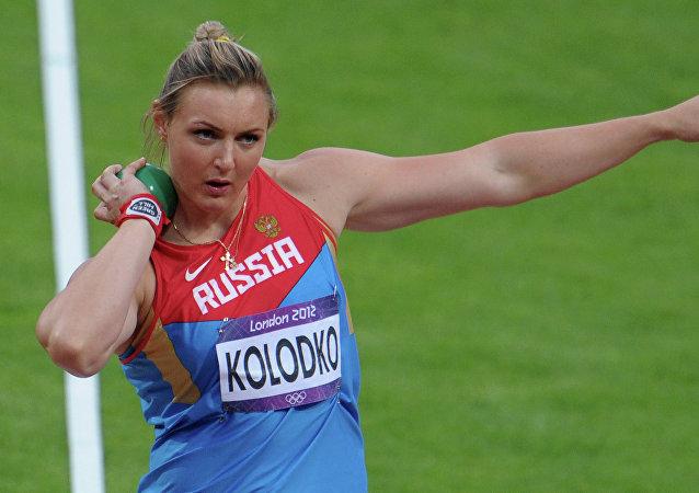 Evgenia Kolodko durante los Juegos Olímpicos de Londres 2012