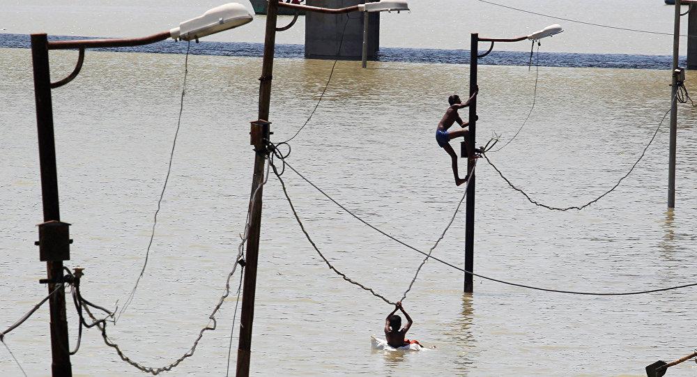 La inundación en India