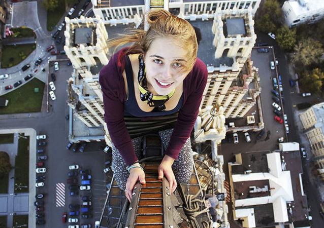 Angela Nikolau, la rusa de las selfis extremas
