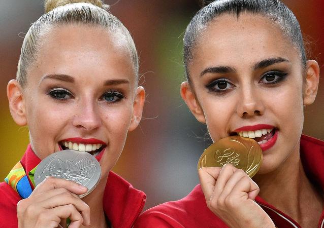 Campeonas rusas de gimnasia rítmica en los XXXI JJOO