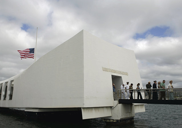 Memorial USS Arizona en Pearl Harbor (archivo)