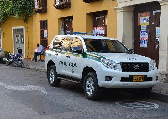 Un coche policial en Colombia (archivo)
