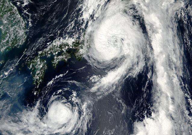 Tifón Mindulle en Japón
