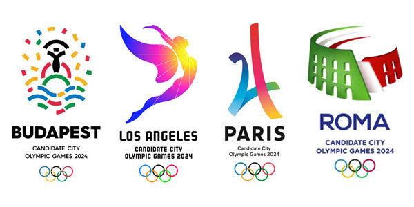 Logotipos de las ciudades candidatas a acoger los Juegos Olímpicos de Verano 2024