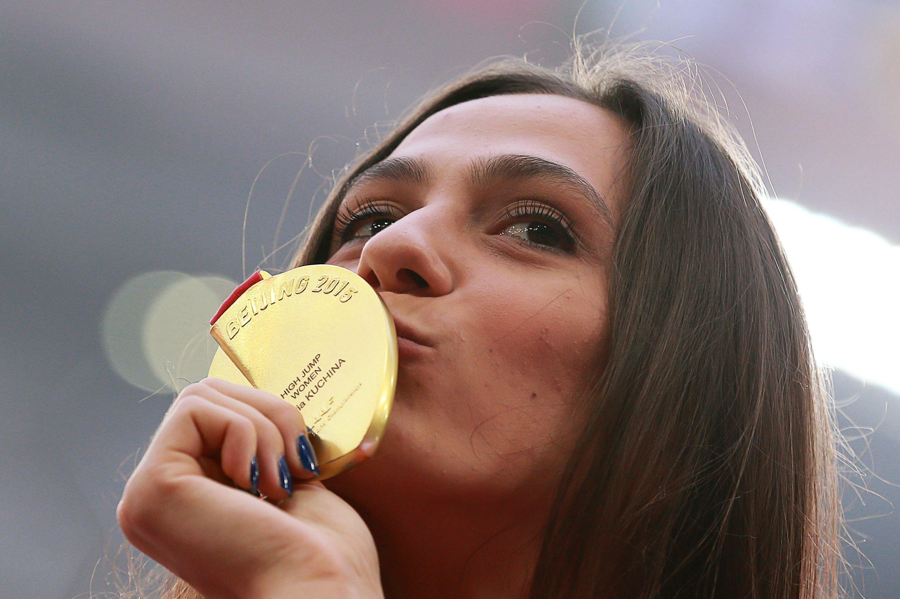 María Kuchina, medallista de oro en salto de altura