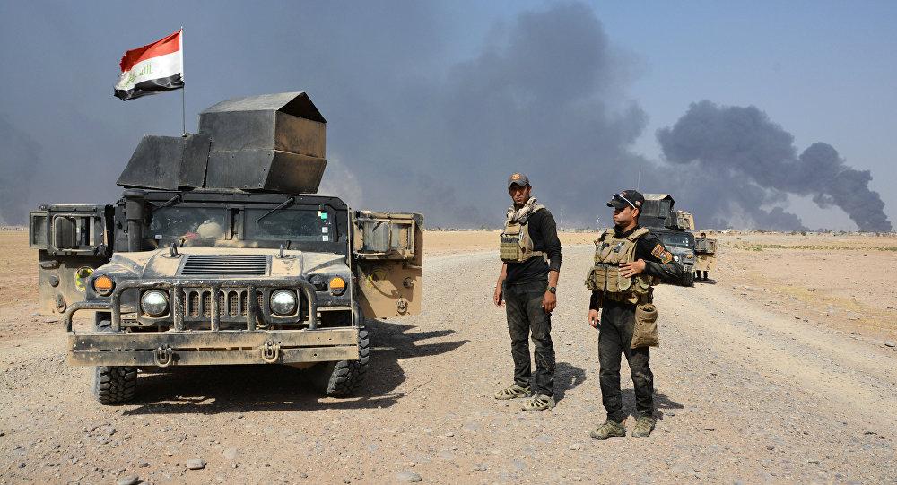 Las tropas de Irak cerca de Al Qayara