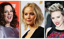 Melissa McCarthy, Jennifer Lawrence, Scarlett Johansson
