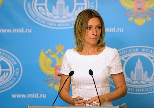 María Zajárova, portavoz de la Cancillería de Rusia