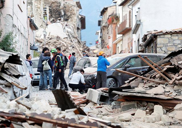 Fuerte terremoto en Italia