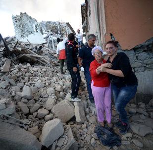 La ciudad italiana de Amatrice, en ruinas tras un fortísimo terremoto