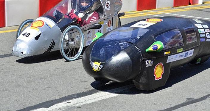 El vehículo durante una competición automovilística