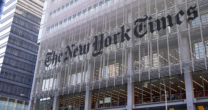 El edificio del diario The New York Times en Nueva York