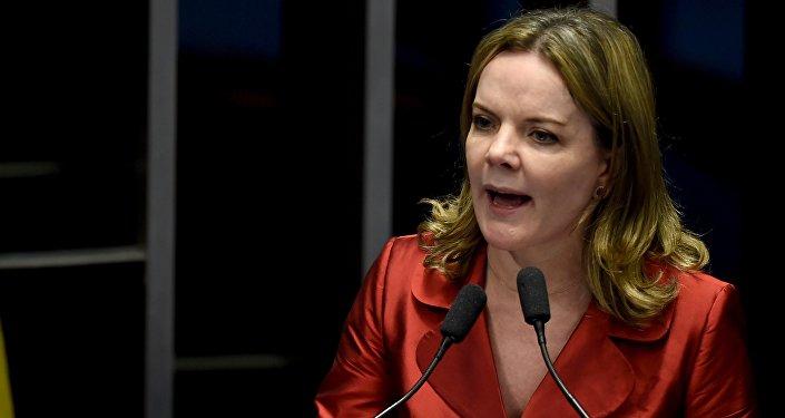 Gleisi Hoffmann, la presidenta del Partido de los Trabajadores (PT)