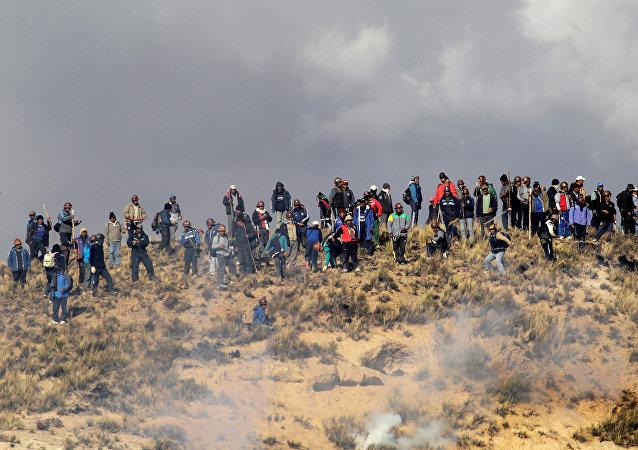 Protesta de los mineros, Bolivia