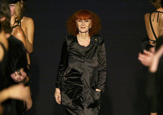 La diseñadora de moda, Sonia Rykiel (archivo)