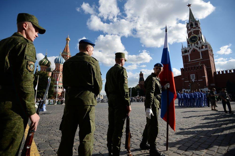 Ensayo final de la apertura del festival Spasskaya Bashnia