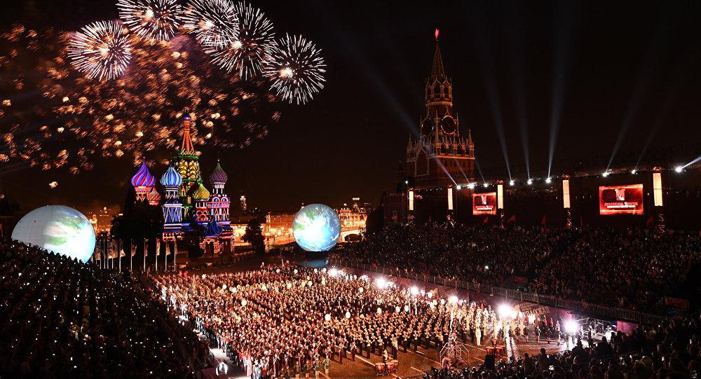 La apertura del festival internacional de música Spasskaya Bashnia en Moscú