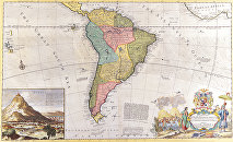 Antiguo mapa de América Latina