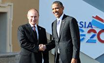 Reunión del presidente ruso, Vladímir Putin, y el presidente estadounidense, Barack Obama, en el marco de la cumbre del G-20 (archivo)