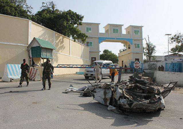 Un coche bomba ante el palacio del presidente de Somalia (archivo)