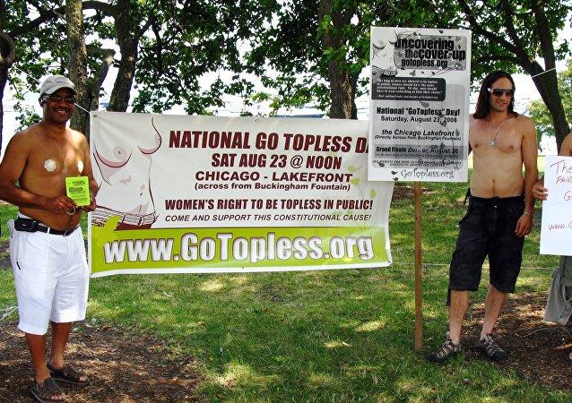 La marcha 'Go Topless Day'