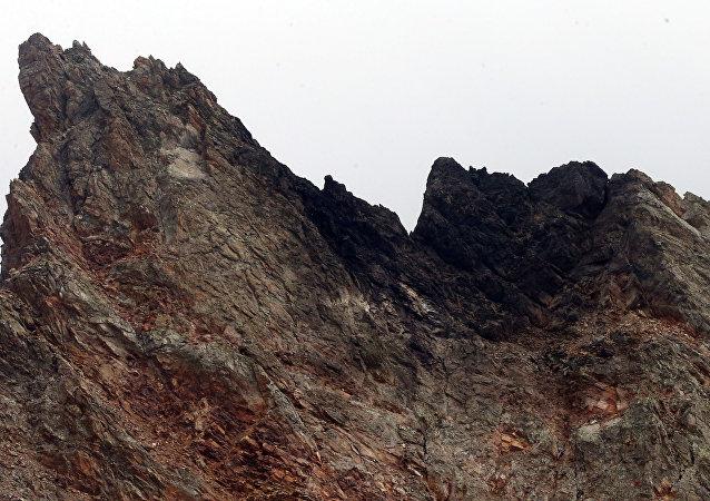Lugar del siniestro del caza suizo en los Alpes