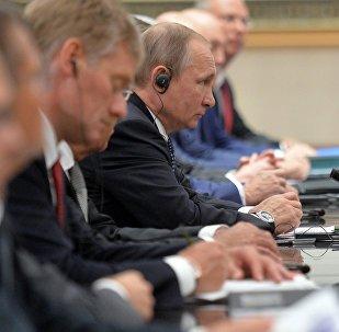 Vladímir Putin durante su visita a China