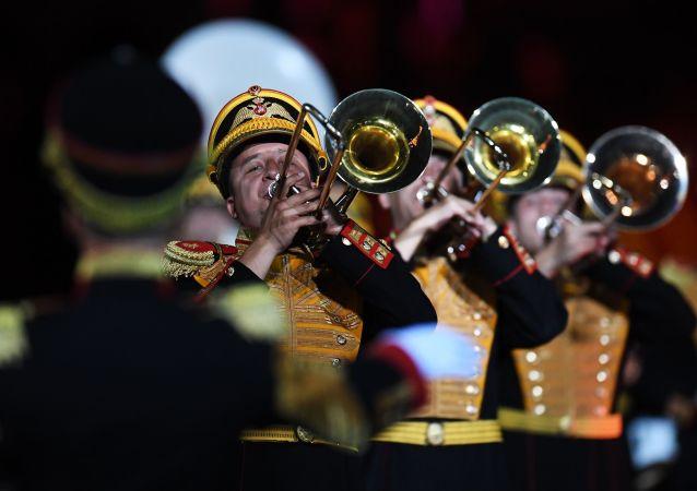 El festival internacional de orquestas militares Spasskaya Bashnia en Moscú
