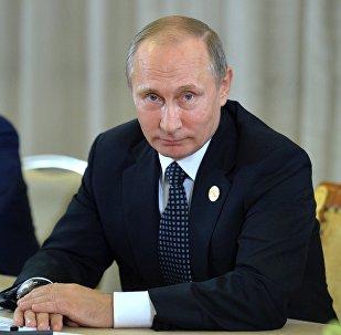 Vladímir Putin durante la cumbre del G20
