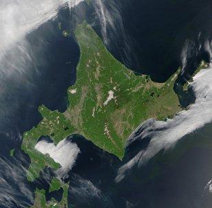 La isla japonesa de Hokkaido